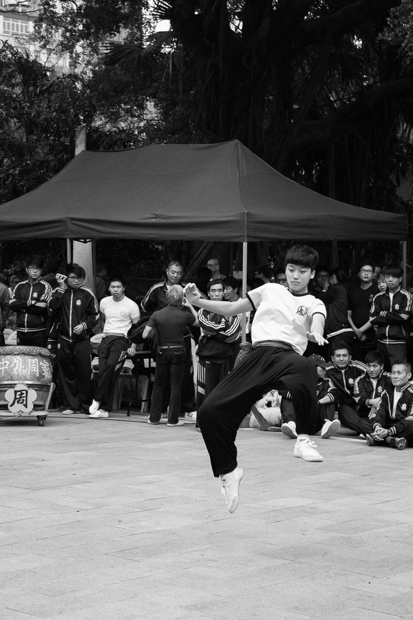 "One of the many participants in the Kung Fu demonstration in Kowloon Park<a href=""/reason/images/597206_orig.jpg"" title=""High res"">∝</a>"