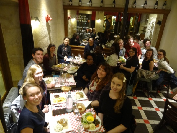 "The Luther french group took over the small restaurant for dinner.<a href=""/reason/images/673206_orig.jpg"" title=""High res"">∝</a>"