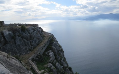 View from Palamidi Castle in Nafplio.