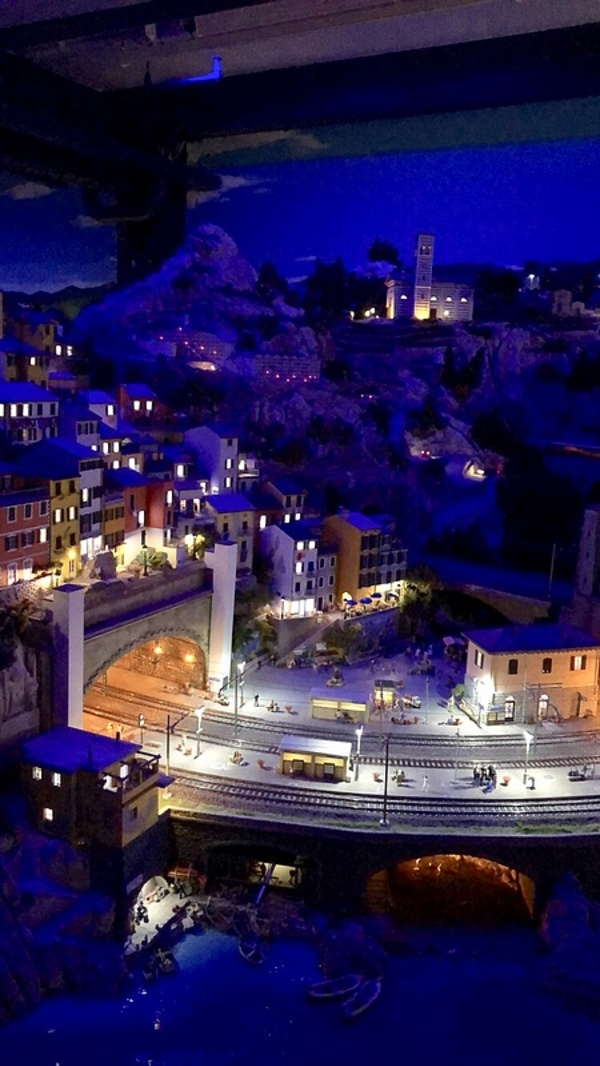 Miniatur Wunderland at night. Every 15 minutes they dim the lights so you can see places both during the day and evening.