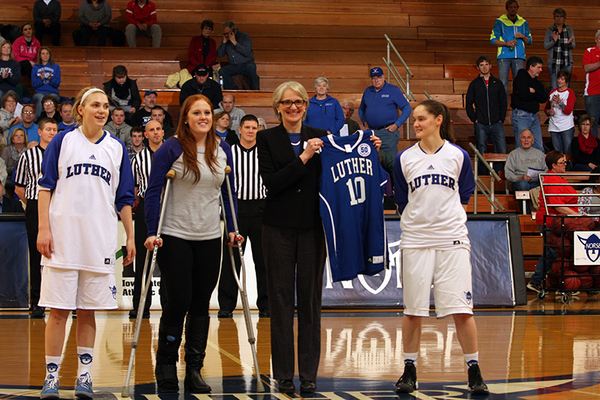 President Carlson Presented Game Jersey