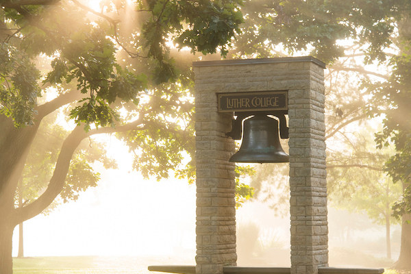 Luther College Bell at Sunrise. Friday, August 26, 2016. Photo by Will Heller