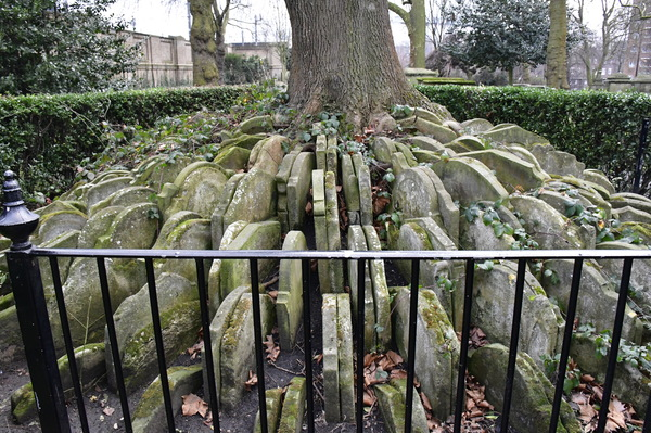 "Hardy's tree, located in St. Pancras Old Church, is where Thomas Hardy moved hundreds of graves which were displaced when the rail was built. Photo by Isaac Heins '18<a href=""/reason/images/798231_orig.jpg"" title=""High res"">∝</a>"