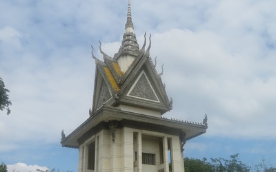 The memorial stupa where the remains of those lost to the killing field are housed.