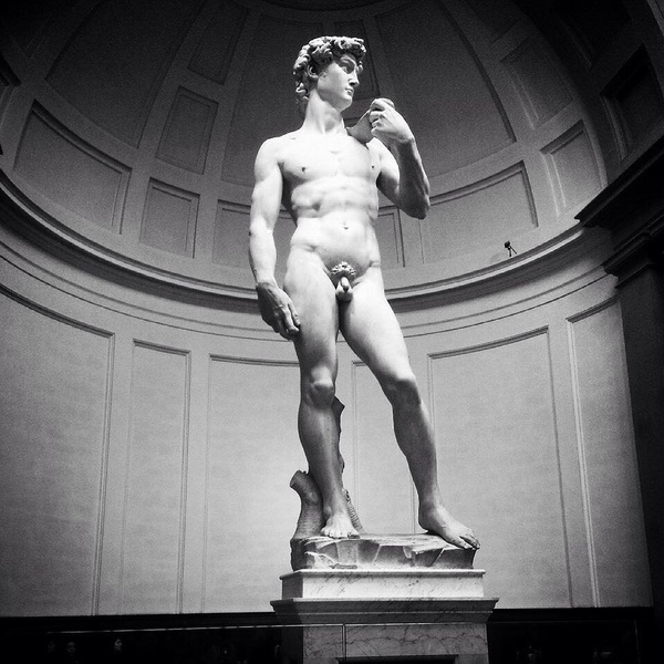 "Michelangelo's David--larger than life! (Literally, he's 17 feet tall.)<a href=""/reason/images/602236_orig.jpg"" title=""High res"">∝</a>"