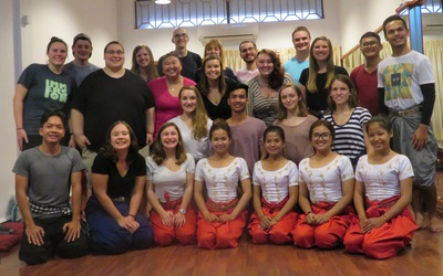 Luther College students meet with local dancers and learn new cultural dances.
