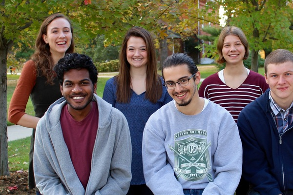 Admissions student bloggers for the academic year 2015-16: Jillian, Ismail, Catherine, Jorge, Izzy, and Forrest.
