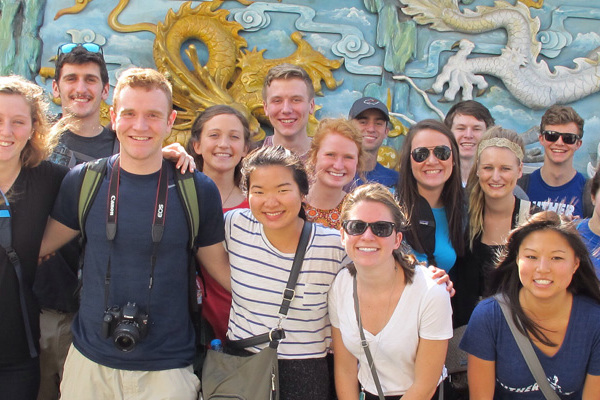 Students study abroad in Vietnam during J-term 2016.
