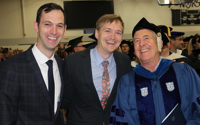 John Meyer, Scott Meyer, and John Moeller, professor of political science