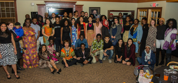 Students gather at the African Party