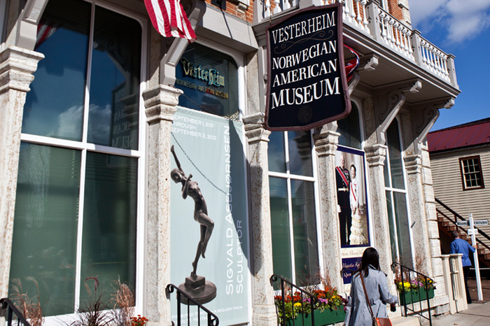Exterior of the Vesterheim Norwegian-American Museum in downtown Decorah.