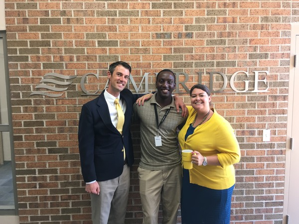 "Charles Mugwagwa, Luther senior, at his summer internship with Cambridge Investment Research Inc., in Fairfield, Iowa.<a href=""/reason/images/789305_orig.jpg"" title=""High res"">&prop;</a>"