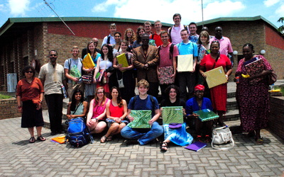 The group met with Chief Buthelezi and were generously given gifts before leaving.