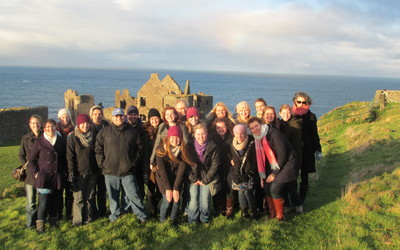 Students at Cair Paravel--I mean, Dunluce Castle.