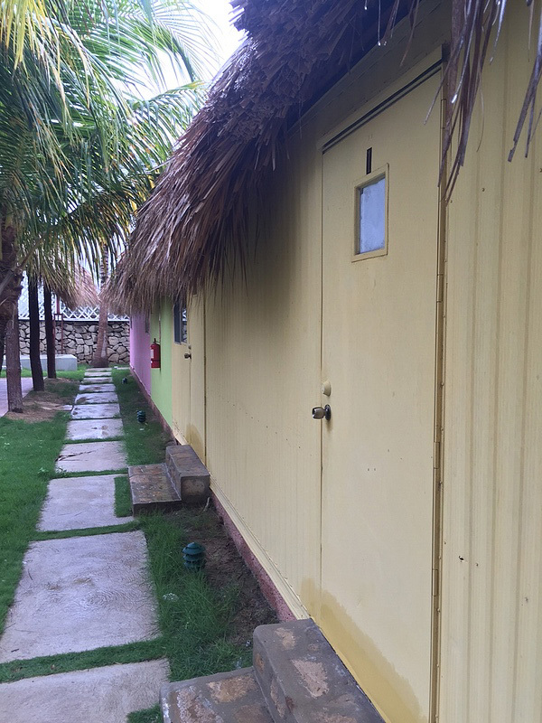 A picture of the huts we stayed in at the beach in Monte Cristi.