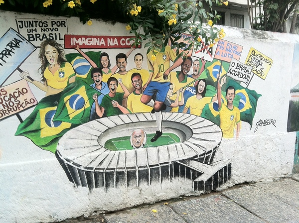 "A mural of the Brazilian national team around Maracanã stadium<a href=""/reason/images/524316_orig.jpg"" title=""High res"">&prop;</a>"