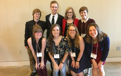 Eight students presented their research projects at the spring 2017 Minnesota Undergraduate Psychology Conference in Northfield, MN.