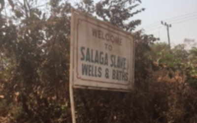 Sign for Salaga Slave Baths