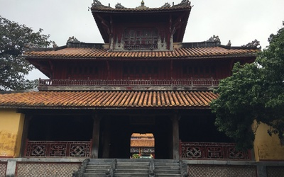 A building from the Forbidden City where past Kings used to reside