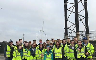 Our group at the Bristol BioMethane plant.