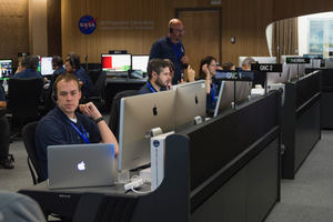 Todd Brown '06 working at NASA's Jet Propulsion Laboratory.