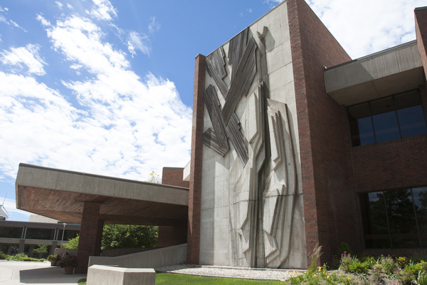 A view of the Center for Faith and Life (CFL) at Luther College.