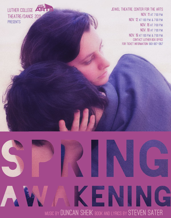 "Poster for the Luther College production of ""Spring Awakening"""