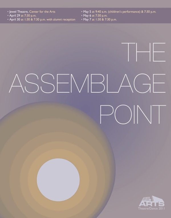 "Poster for the Luther College dance production of ""The Assemblage Point"""