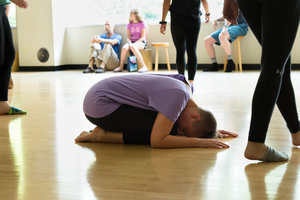 A student participates in the 2018 summer Dance Camp.