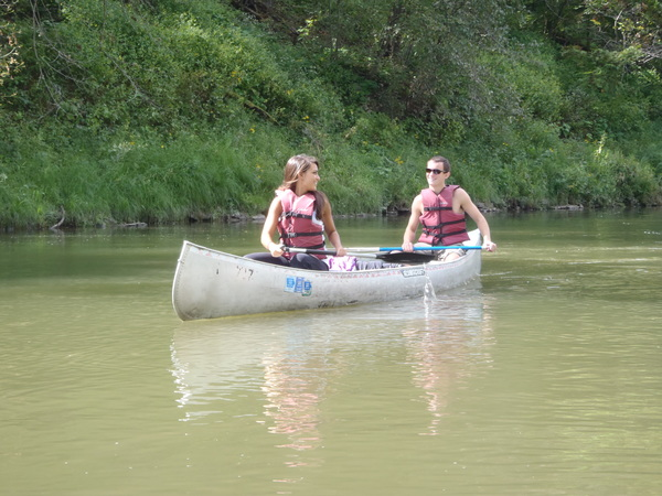 Canoeing on the upper Iowa.