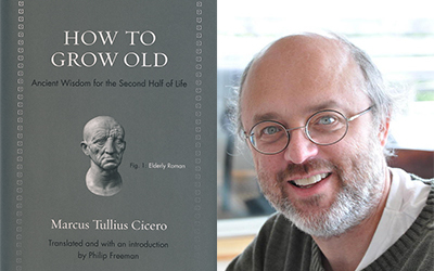 "Philip Freeman and his newest book, ""How to Grow Old"""