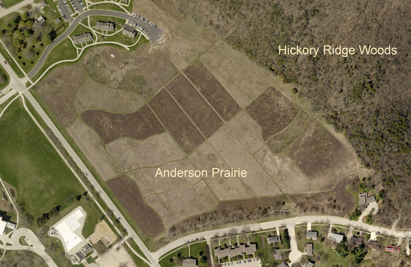 Anderson Prairie vicinity aerial photo