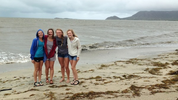 "A photo of Lauren, Hannah, Annika, and Haley with windblown hair.<a href=""/reason/images/673403_orig.jpg"" title=""High res"">∝</a>"