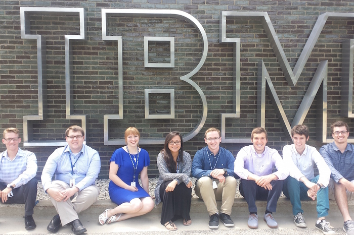 Luther students doing internships at IBM.