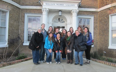 Here is our group outside William Morris's house