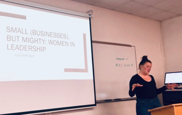 "Lizzy DePrenger, ""Small (Businesses), but Mighty: Women in Leadership,"" COMS 239 Cultivating Quality Communication (January 2018)"