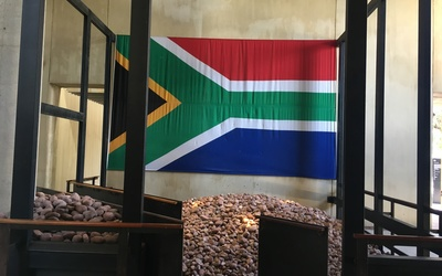 The Flag of South Africa found at the Apartheid museum