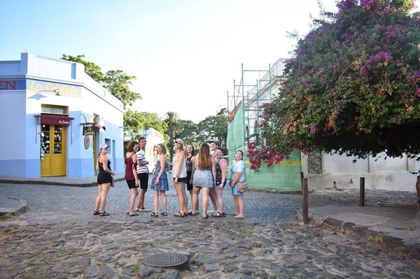 "A picture of our group in a Colonia, Uruguay - one of the big highlights from the trip.<a href=""/reason/images/801426_orig.jpg"" title=""High res"">∝</a>"