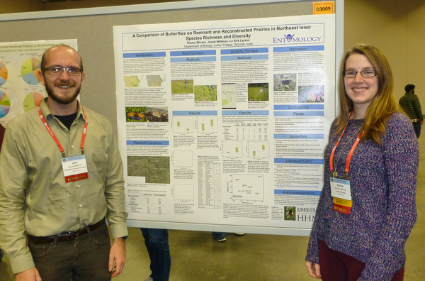 Emma Stivers and Jacob Wittman presenting results of their summer 2015 research at the national meetings of the Entomological Society of America