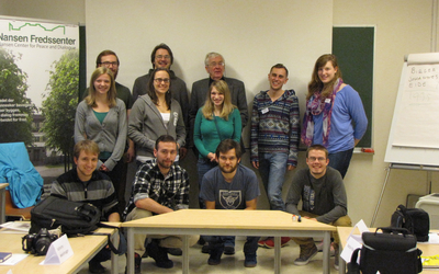 "The group with Birger Eide after our lecture on ""The Ways of Norway."""
