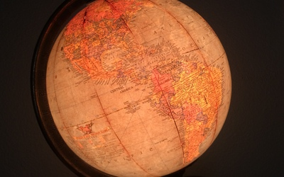 An antique globe from my personal collection.