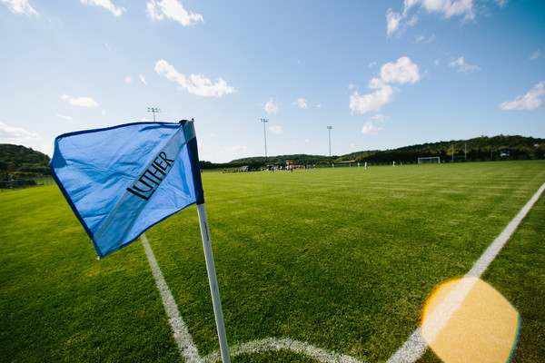 A view of the Norse soccer fields on a sunny day.