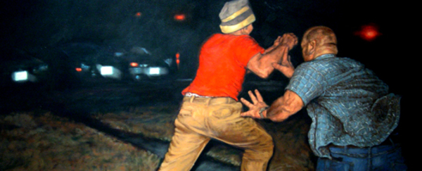 "Ben Moore ""And the Cops Didn't Even Say Happy Birthday"" Oil on Canvas, 2009-2010"