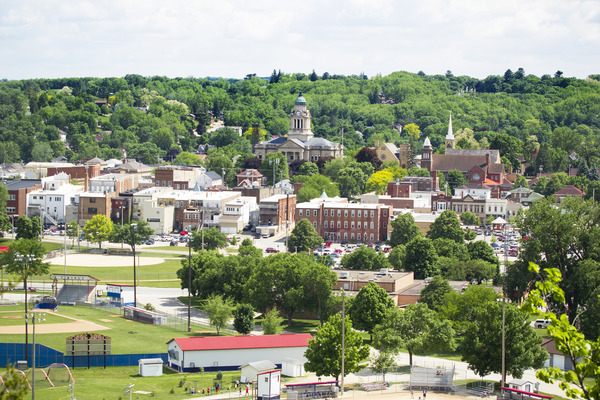 View of downtown Decorah.