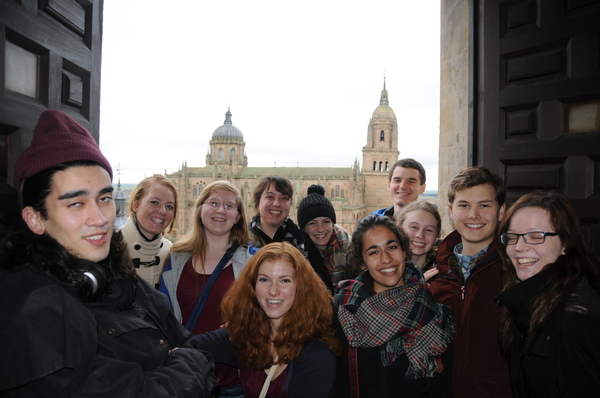 All of us near the top of La Clerecía, the largest cathedral in Salamanca. By the way, Greyson Castell just happens to look strange in this photo - don't assume anything :)