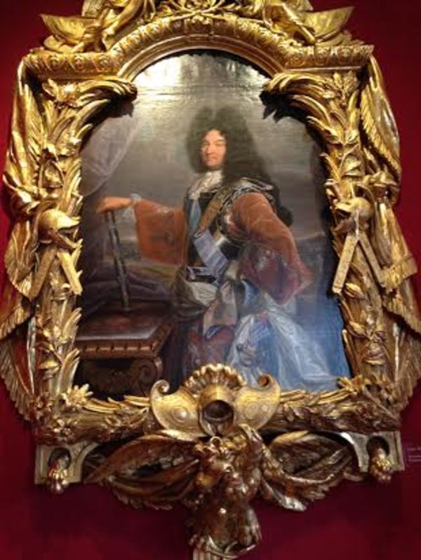 A fantastic portrait hanging in the Salon of Louis the XIV inside the castle.
