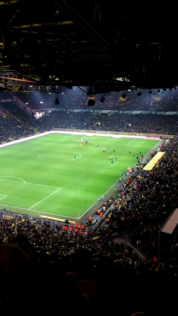 "Paul at a Borussia Dortmund soccer game. This stadium seats 85,000 people, it is the second largest in Germany only second to the Olympia stadium in Berlin.<a href=""/reason/images/690462_orig.jpg"" title=""High res"">∝</a>"