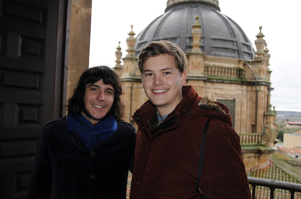 Carlos, the legend, and Matt Christopherson posing at the top of the cathedral.