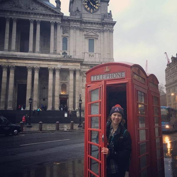 "A cliche picture of me in a telephone booth outside of the Saint Paul Cathedral in London<a href=""/reason/images/795477_orig.jpg"" title=""High res"">∝</a>"