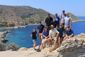 Luther students working with archaeologists and oceanographers from the U.S. and Turkey near the ancient site of Knidos in the southeast Aegean Sea.